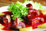 Roasted duck in red sauce