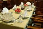 Table ready for an event.